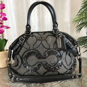COACH Madison Sequin OP Art Sophia Satchel 15945